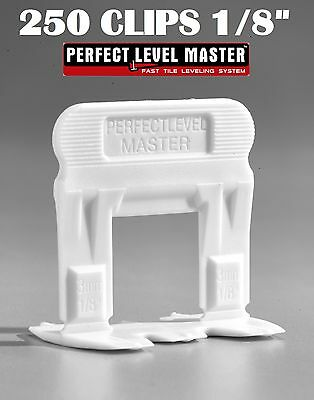 """1/8"""" T-Lock 250 Clips - Perfect Level Master  - Tile Leveling System spacers"""