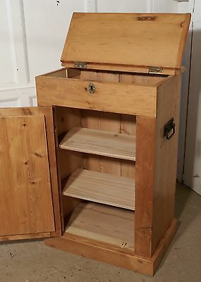 A 19th Century Stripped Pine,Top Opening Campaign Cupboard