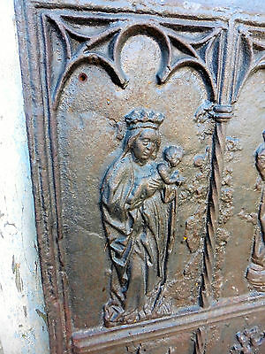 Medieval French Iron Ecclesiastical Panel, Fire Back