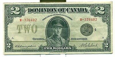 1923 $2 A.EF The Dominion of Canada Campbell Clark Black 4