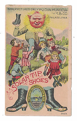 Solar Tip Shoes Trade Card Anthropomorphic Sun Philadelphia