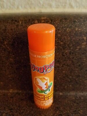 Lotta Luv Ring Pop Twisted Orange Cream Flavored Lip Balm New Sealed .58 oz