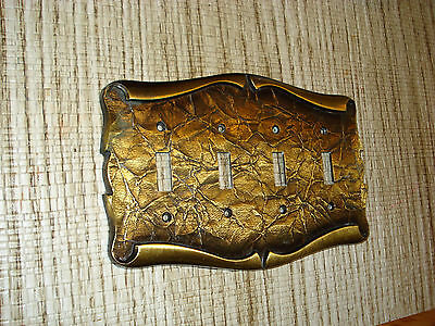 Vintage AMEROCK CARRIAGE HOUSE light switch Cover Plate  Antique Brass!