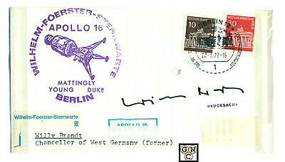First Day Cover Signed by Willy Brandt Chancellor of West Germany (Former)