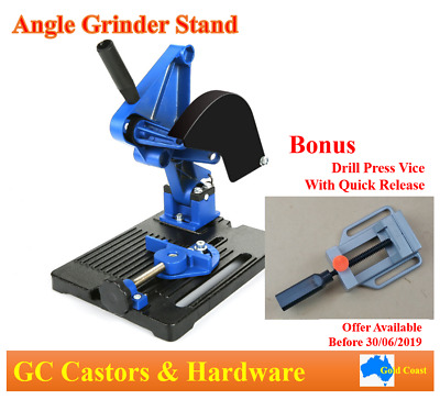 Electric Angle Grinder Cutter Support Bracket Holder Stand Dock Cast Iron Base