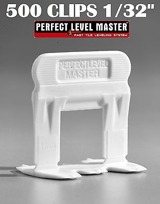 """1/32"""" T-Lock 500 Clips - Perfect Level Master  - Tile Leveling System spacers"""