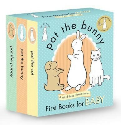 Pat the Bunny: First Books for Baby - 3 Books Box Set - BRAND NEW!!