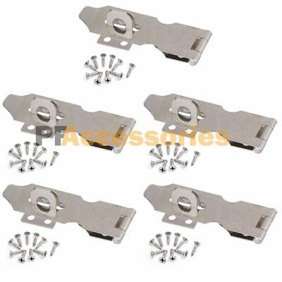 "5x 3"" inch Zinc Plated Safety Hasp and Staple for Gate Door Cabinet Lock Padlock"