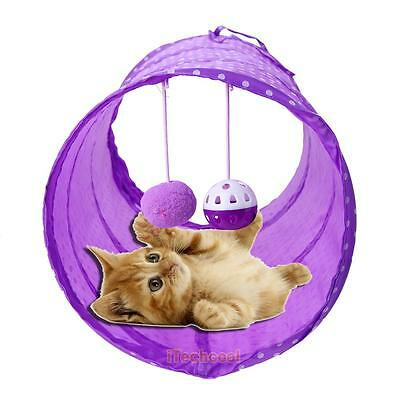 Cat Tunnel Toys Folding Pet Funny Tunnel Kitten Dog Rabbit Play With Ball Toy
