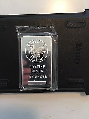Sunshine Mint 10 oz Silver Bars. Lot of  9 sealed Si Mark.