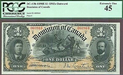 Stunning Dominion of Canada, $1, 1898, DC-13b, PCGS EF-45!
