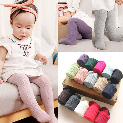 Baby Toddler Kid Girl Cotton Warm Knee High Pantyhose Socks Stockings Tights US