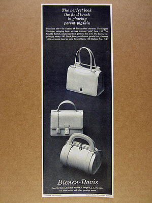 1968 Bienen-Davis Handbag Satchel Purse 3 Styles photo vintage print Ad
