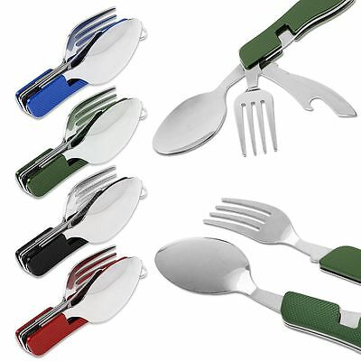 3 in 1 Pocket Folding Spoon Fork Knife Multi Tool for Outdoor Travel Camping