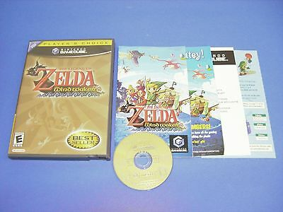 Legend of Zelda Wind Waker CIB Complete w/ NEAR MINT DISC for Nintendo Gamecube!