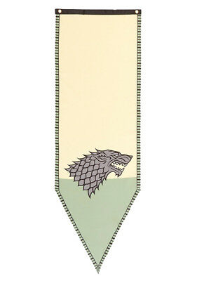 Game of Thrones House Stark Green Banner Wolf - Licensed Product - Great 4 Fans