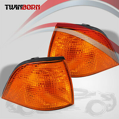 Coupe/Convertible Amber Euro Corner Lights Pair For 92-99 BMW E36 3-Series 2DR