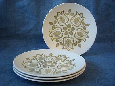 "J & G Meakin Tulip Time 4 X 9"" Lunch / Dinner Plates"