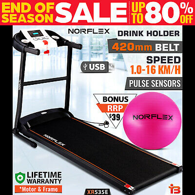 NEW NORFLEX Electric Treadmill Home Gym Ball Exercise Machine Fitness Equipment