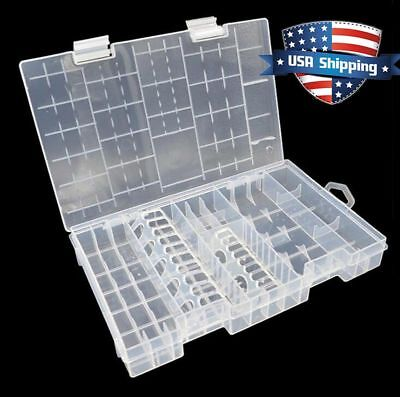 AA AAA C D 9V 18650/14500/26650 Battery Plastic Storage Box/Case/Organizer