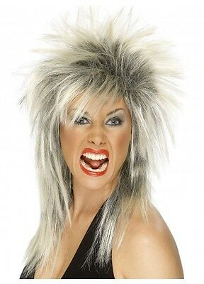 Tina Turner Wig Mullet 80's Punk Rock Spikey Fancy Dress Deluxe Costume Dress Up