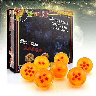 JP Anime DragonBall Z Stars Crystal Ball Collection Set with Box Xmas Gift 7pcs