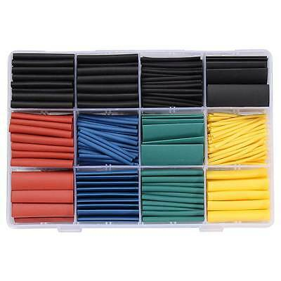 530 Pcs Heat Shrink Tube Tubing  Assortment Wire Cable Insulation Sleeving Kit