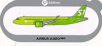 STICKER AIRBUS A320 neo  / S7 AIRLINES ( RUSSIE )