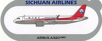 STICKER AIRBUS A320neo / SICHUAN AIRLINES