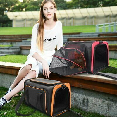 48*30CM Expandable Portable Pet Travel Carrier Shoulder Bag Cat Puppy Kennel Bag