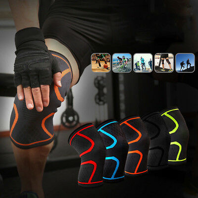 1 Pair AOLIKES Sport Knit Knee Patella Support Brace Fitness Compression Sleeve