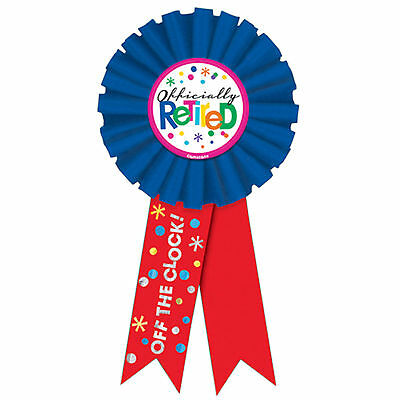 15cm Officially Retired Happy Retirement Party Award Ribbon Prize Badge