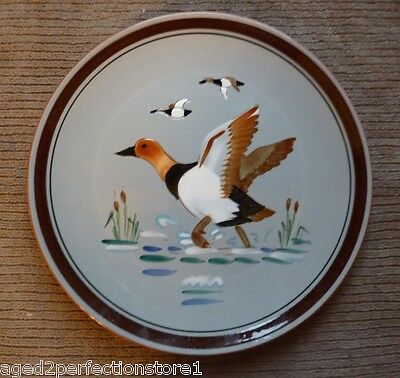 "Vintage STANGL Pottery Plate Charger - ""CANVAS BACK"" 2 Trenton NJ bird duck"