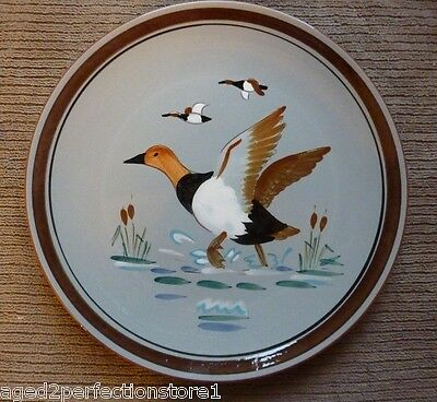 "Vintage STANGL Pottery Plate Charger - ""CANVAS BACK"" 3 Trenton NJ bird duck"