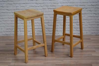Vintage Style Tall Wooden Lab School Cafe Bar Stools (40 Available)