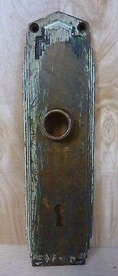 Original Art Deco Door Plate thick brass decorative art architectural hardware