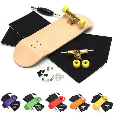 32mm Basic Complete Wooden Fingerboard Grit Box Foam Tape Set 7 Wood Colours