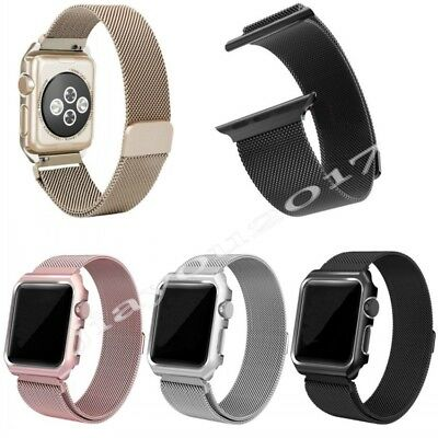Metal Magnetic Stainless Steel Wrist Band Strap For iWatch Apple Watch Xmas UK