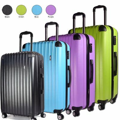 Extra Light Weight Large Medium Small Cabin Luggage Suitcase Value Travel Case
