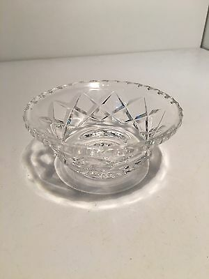 BEAUTIFUL VINTAGE DIAMOND CUT CRYSTAL Clear Glass Style Bowl Collectable