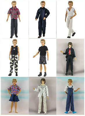 Lot 5 Set Fashion Outfits/Clothes+3 Pairs Shoes For 12 inch Ken Doll