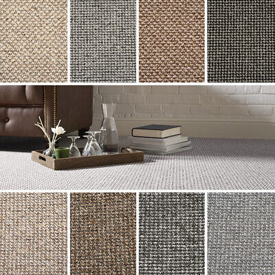 Quality Loop Textured Effect Carpet - New - 4M Widths  Any Size - Lounge Bedroom