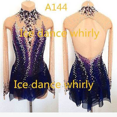 Custom Ice figure skating competition dress girls Baton Twirling Costume