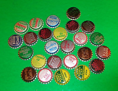 Mixed Lot of 25 Unused Bottle Caps