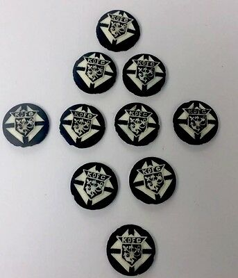 Knights Of Columbus Vintage Lot Of Crests 10pc Enamel