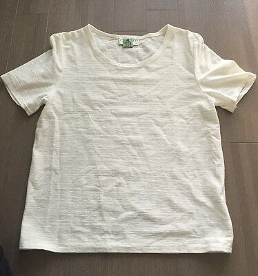 EUC Chianti cream short sleeve knitted top, like-new, 14