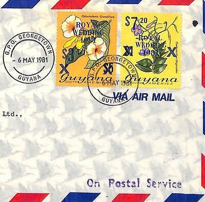 AO59 1981 GUYANA Georgetown to GB London Registered Cover. Postmaster General