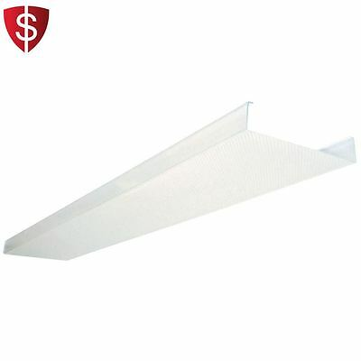 Fluorescent Ceiling Light Fixture LED cover Lens Clear Acrylic Wraparound Home