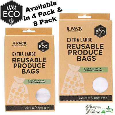 Ever Eco Reusable Produce Bags - Extra Large - 4 Pack or 8 Pack