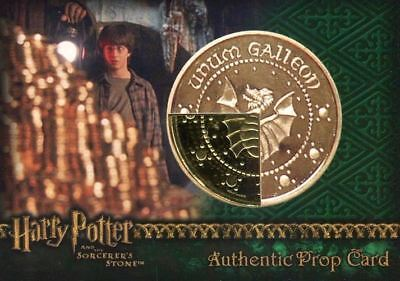 Harry Potter Sorcerer's Stone Wizard Coin: Gold Galleon Prop Card HP #21/40